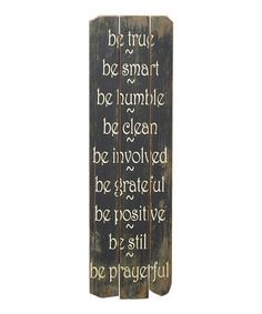 Take a look at this 'Be True' Wall Art by A Whimsical Home: Décor on #zulily today!