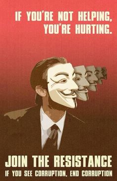 If you're not helping you're hurting | Anonymous ART of Revolution