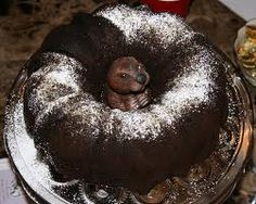 groundhog in bundt cake...again, no website. Ideas...cooked brownies are 'moldable'...