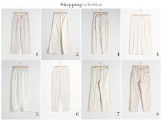 Selección de pantalones blancos para primavera verano 2019. A Trendy Life Style. Pantalones blancos mujer. Other Stories. Moda mujer. Fashion. Summer Pants, White Pants, Spring Summer, Feminine Fashion, Women, Clothes