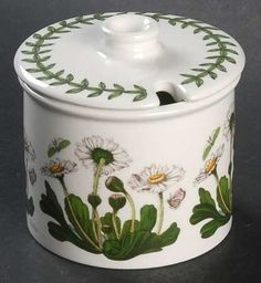 Amazon.com: Portmeirion Botanic Garden Jam/Jelly & Lid, Fine China Dinnerware: Kitchen & Dining
