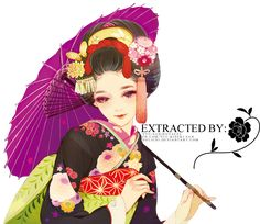 Render 039 :: by Matsuo Hiromi Original: [link] :: Please credit for the render (more credit=more renders) :: If anyone asks where you got the render, p. Geisha Kunst, Geisha Art, Anime Kunst, Art And Illustration, Character Illustration, Anime Kimono, Manga Drawing, Manga Art, Grafiti