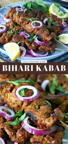 Kabob Recipes, Grilling Recipes, Beef Recipes, Cooking Recipes, Pakistani Dishes, Iftar Recipes Pakistani, Mutton Recipes Pakistani, Indian Food Recipes, Asian Recipes