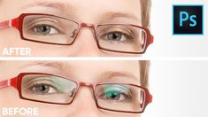 Remove Glare From Glasses Without Replacing or Cloning in Photoshop - YouTube