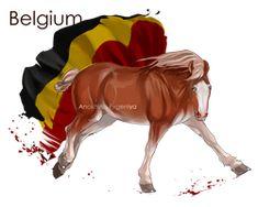 Horse Hetalia:  Belgium by MUSONART