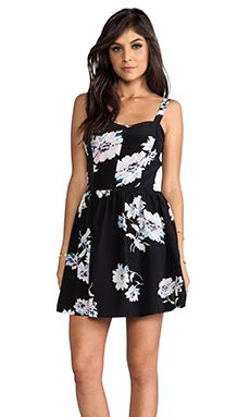 Joie Latelle Tossed Bouquet Dress in Caviar | REVOLVE