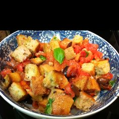 Panzanella recipe by Giada DeLaurentiis that I made!!! Deeeelish ;)