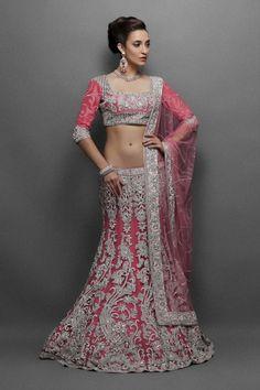Pink Engagement Lehenga Dress