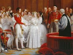 The wedding of Victoria and Albert by George Hayter.
