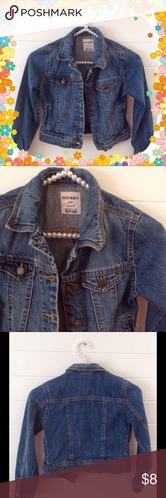 Girl's Old Navy Jean Jacket Girl's Old Navy Jean Jacket.  Has name written on inside tag.  Size Small. Old Navy Jackets & Coats Jean Jackets