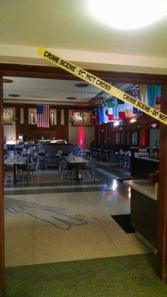 Mystery dinner in Hamilton Hall