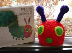 Welcome to Craftsy! Learn it. Hungry Caterpillar, Story Sack, Very Hungry, Baby Hats, Crochet Hats, Christmas Ornaments, Holiday Decor, Creative