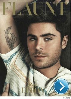 Zac Efron on the cover of 'Flaunt'