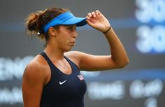 Madison Keys of the United States looks on during the Women's Singles second round match against Kristina Mladenovic of France on Day 3 of the Rio 2016 Olympic Games at the Olympic Tennis Centre on August 8, 2016 in Rio de Janeiro, Brazil. (Source: Clive Brunskill/Getty Images South America)