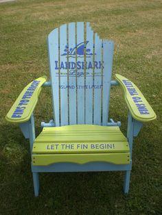 Hand+painted+Adirondack+Chair+Shark+by+HopelessRomanticShop