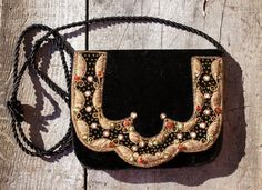 Indian Gypsy Embroidered Velvet Purse by StarShineVintage on Etsy