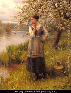 I love the work of Daniel Ridgway Knight.