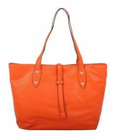 Another great find on #zulily! Orange Belt Latch Tote by Co-Lab by Christopher Kon #zulilyfinds