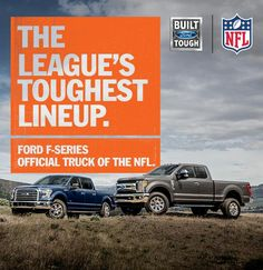 #FordTrucks is the official truck of the #NFL!