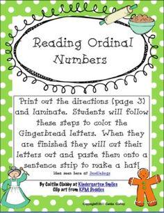 Math - ordinal numbers