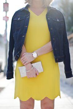 Yellow scalloped dress...