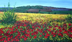 Tuscan Meadow, painted by my sister in law Jen.  She's awesome!   See more of her art at jensart.com