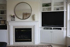 Built In Corner Tv Design, Pictures, Remodel, Decor and Ideas fireplace ideas with tv built ins Built In Tv Cabinet, Tv Built In, Built In Bookcase, Built In Cabinets, Bookcases, Tv Cupboard, Media Cabinet, Corner Tv Unit, Room Corner