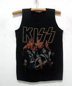 "New KISS band singlet tank top shirt vintage punk rock tour 35"" M 