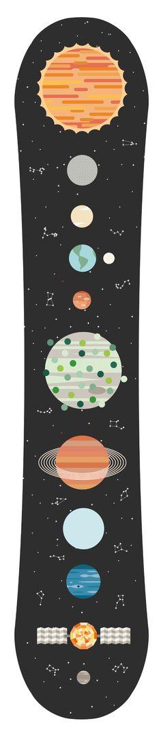 Spatial c'est spécial... ahahahahahah ;) Space Snowboard - Jportch Illustration