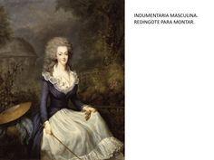 Maria Antonieta vestida con Redingote.
