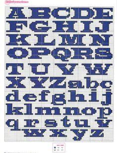 Mis gráficos ♥ ♥ Cross Stitch: Varios Alfabetos en punto de cruz