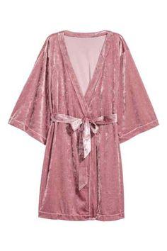 Kimono en terciopelo arrugado