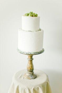 REVEL: Green + White Wedding Cake