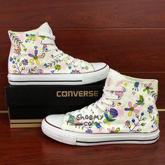 c42eedfff88e2d Original Design Converse Fragrance Flowers Hand Painted Canvas Shoes