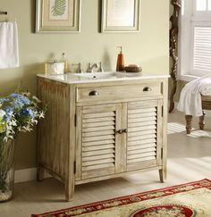 Shutter Vanity like Restoration Hardware. Find More Furniture Like Restoration Hardware Here.