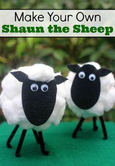 Make Your Own Shaun the Sheep Craft #ShaunTheSheep