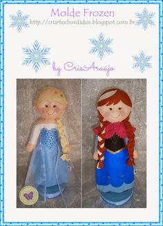 Stitching Dreams: Frozen Molds Elza & Anna Felt Doll Patterns