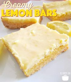 Creamy Lemon Bars recipe from The Country Cook -made these for Christmas 2018 and they were great.