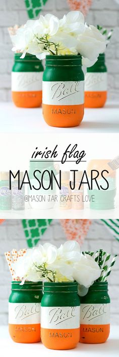 Mason Jar Craft Ideas - St Patricks Day Party Ideas