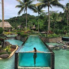 Lagoon or swimming pool: Laucala Island Resort, Fiji