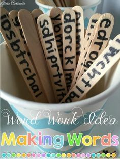 word work idea for K-2 reading ceneters