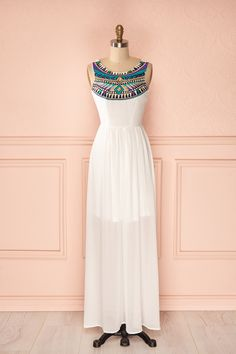Edel - White embroidered maxi dress