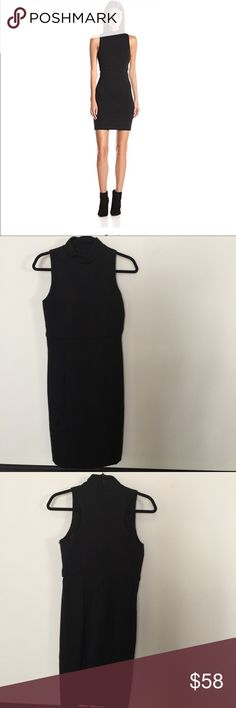 French Connection High neck lula 👗Black size 8 Gorgeous dress in Great condition, no rips, stains, pilling, fading or any other signs of wear, Measurements are provided below, in inches and are approximately: Length 37 inches Waist 14.5  Armpit to armpit 17.5  Sorry no trades or modeling.  Thanks for looking. Have a nice Day. French Connection Dresses Mini