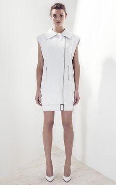 Bassike Leather Vest Dress