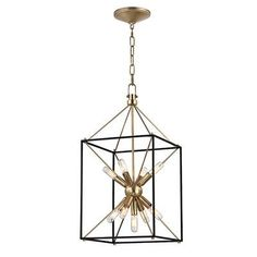 "Hudson Valley Lighting Glendale 9 Light Foyer Pendant Finish: Aged Brass, Size: 24.75"" H x 12.25"" W x 12.25"" D"
