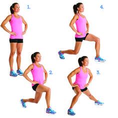 Clockwork Lunge http://www.prevention.com/fitness/strength-training/10-exercises-that-get-rid-of-cellulite/clockwork-lunge
