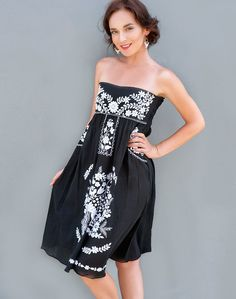 Black White Floral Summerdress, $76.00 (http://www.bluseagal.com/products/black-white-floral-summerdress.html)