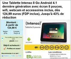 Vente groupée : Tablette Intenso Tab 814 WiFi 8 Go avec écran 8 pouces, webcam et accessoires à partir de 124,99 euros (FDP inclus) | Maxi Bons Plans
