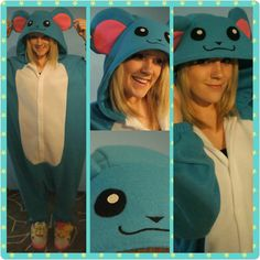 Wish you could be as cute as Marill? Now you can be! With this Marill inspired adult onesie/kigurumi. Available on Etsy
