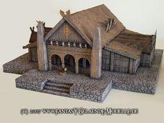 Building Concept, Building Art, Building Structure, Building A House, Casa Viking, Viking House, Medieval Houses, Medieval World, Fancy Fence